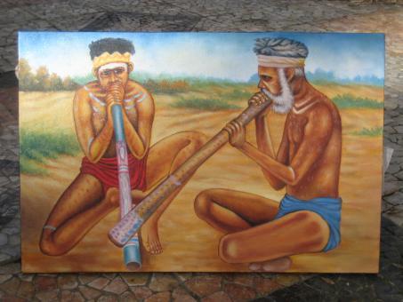 Didgeridoo Bild 2 Aborigines 100 x70cm