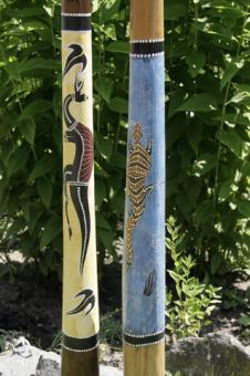 Didgeridoo Teak blau oder gelb